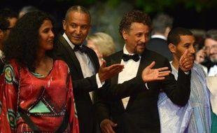 "L'équipe de ""Timbuktu"" à Cannes le 15 mai 2014"