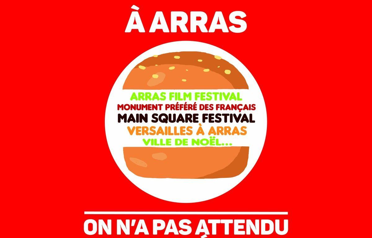 L'affiche créée par le service communication d'Arras en réponse à une publicité de Burger King.  – Ville d'Arras