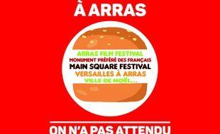 L'affiche créée par le service communication d'Arras en réponse à une publicité de Burger King.