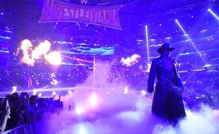 L'Undertaker lors du Wrestlemania32, en avril 2016