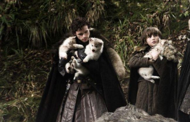 Dans la première saison de « Game of Thrones », ce sont juste de petits louveteaux inoffensifs.
