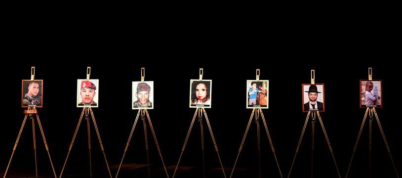 Hommage aux victimes de Mohamed Merah, à la Halle aux grains de Toulouse, le 19 mars 2014.