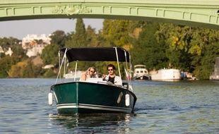 A Nantes, les bateaux proposés par Ruban Vert sont fabriqués par l'entreprise Ruban Bleu