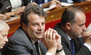 Le député Thierry Solère (au centre), le 4 juillet 2017 à l'Assemblée nationale