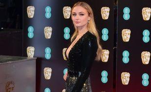 L'actrice Sophie Turner aux British Academy Film Awards.
