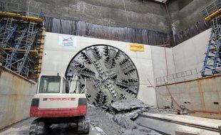 Le tunnelier Elaine a percé à la station Colombier à Rennes.