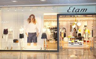 Un magasin Etam (illustration).