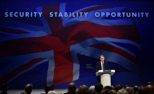 Le ministre des Affaires étrangères Philip Hammond lors du congrès annuel des Conservateurs à Manchester le 4 octobre 2015