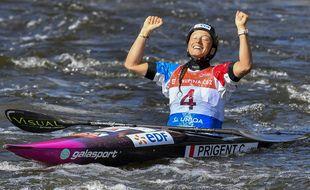 La Rennaise Camille Prigent a décroché la médaille d'argent aux championnats d'Europe de canoë-kayak à Prague le 20 septembre.