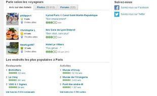 Capture d'écran du site Tripadvisor.