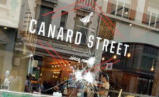 Le restaurant Canard Street a été vandalisé à Lille par des militants végan.