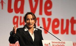 Ségolène Royal lors de son discours inaugural à la Rochelle, pour l'université d'été du PS, vendredi 27 août 2010.