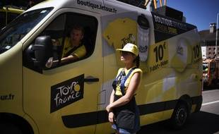 Un camion de l'organisation du Tour de France (photo d'illustration).