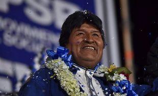 Evo Morales lors d'un meeting, le 16 octobre 2019.