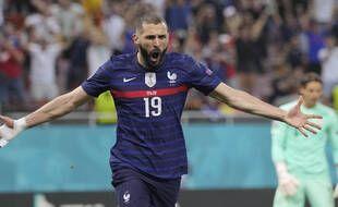 Karim Benzema a inscrit deux doublés lors de l'Euro, contre le Portugal puis la Suisse.