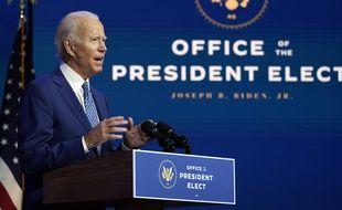 Discours du Président-élu, Joe Biden, au Queen Theatre de Wilmington, dans le Delaware, aux États-Unis.