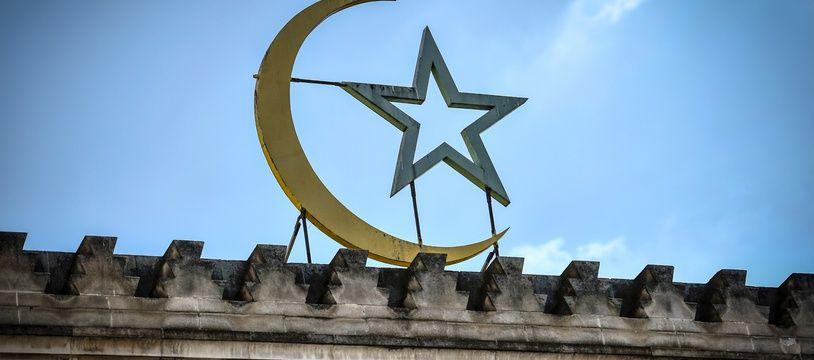 Illustration:La façade de la Grande Mosquée de Paris, le 24 mai 2020.