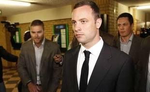 Oscar Pistorius arrive au tribunal de Pretoria, le 3 mars 2014.
