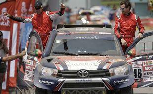 André Villas-Boas, qui participait à son premier Dakar en auto, a dû abandonner lors de la 4e étape, le 10 janvier 2018.