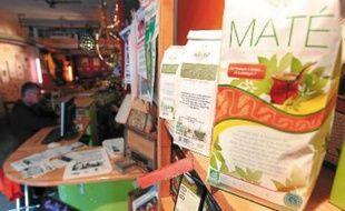 Chaque année, 18 tonnes de maté sont commercialisées, comme ici, à l'Equitable Café.