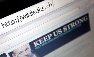La page d'accueil de WikiLeaks.ch