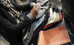 Illustration d'une boutique de vêtements
