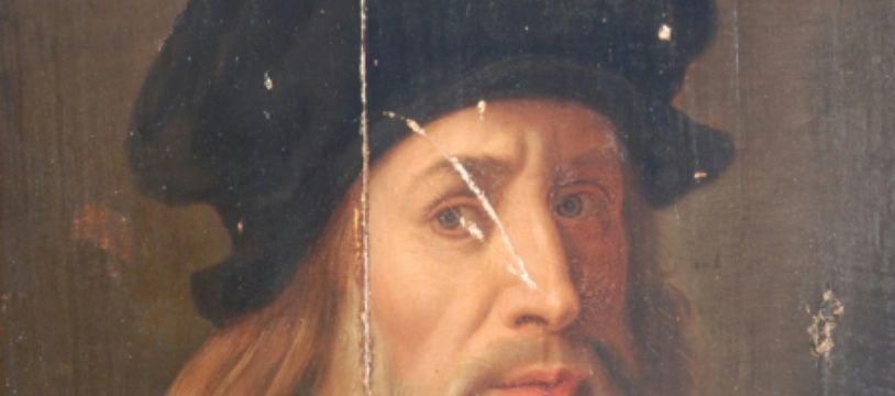 Auto-portrait de Léonard de Vinci.