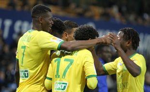 MHSC / Nantes (31 octobre 2018) : La joie des Nantais après le but de Coulibaly à la Mosson.