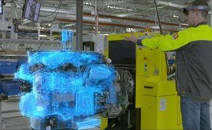L'entreprise bordelaise Immersion équipe les opérateurs de Renault Trucks de casques de réalité mixte pour intervenir sur le contrôle qualité des moteurs.