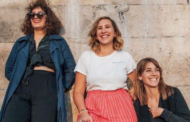 Le trio volcanique de Bande de Filles, composé de Arabella Coste & Naajet Spaciale