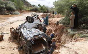 Des crues subites ont fait 15 morts dans l'Utah, le 14 septembre 2015.