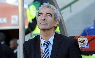 Raymond Domenech à Bloemfontein, le 22juin dernier.