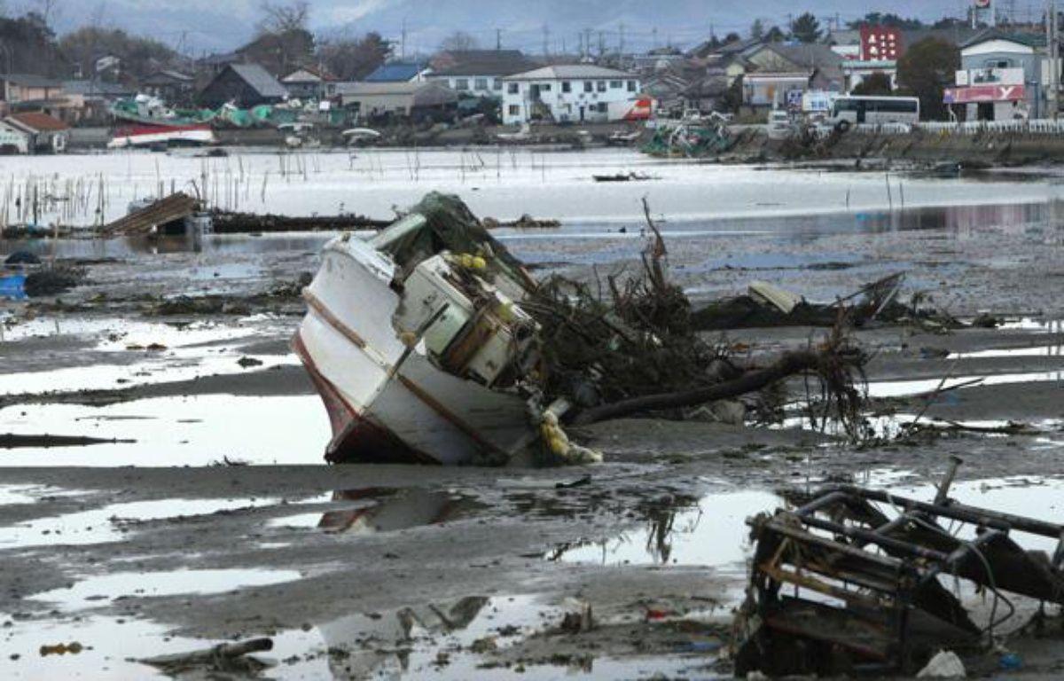 Le port de Soma, près de Fukushima au Japon, le 23 mars 2011 après le tsunami. – Wally Santana/AP/SIPA