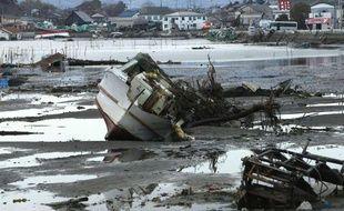 Le port de Soma, près de Fukushima au Japon, le 23 mars 2011 après le tsunami.