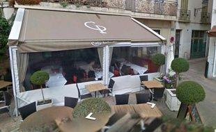 Capture d'écran de google street du Café de la Place au Cannet.