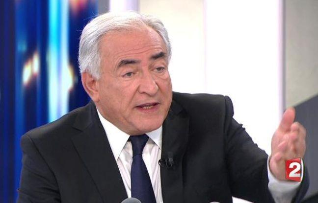 Dominique Strauss-Kahn sur le plateau du journal de France 2, le 20 février 2011