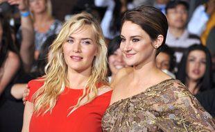 Les actrices Kate Winslet et Shailene Woodley