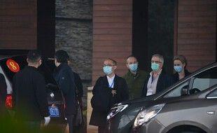 Les experts de l'OMS à à Wuhan le 31 janvier 2021.