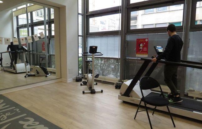 Dans la salle de sport de La Suite, les patients peuvent retrouver une activité physique adaptée.