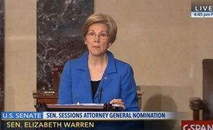 Elizabeth Warren se fait interrompre au Sénat