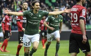 Neven Subotic, après son but inscrit face à Guingamp le 18 mars dans le Chaudron (2-0).