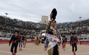 Le Mexicain Luis David Adame dans les arènes d'Arles lors d'une feria en 2018