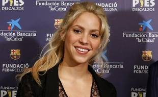 La star Shakira va se produire à Bordeaux cet été.  / AFP PHOTO / PAU BARRENA