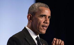 Le président américain Barack Obama, lors d'un discours à Washington, le 4 mai 2016