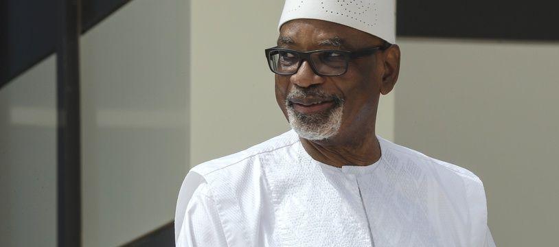 L'ancien président du Mali Ibrahim Boubacar Keïta, à Nouakchott le 1er juillet 2020.