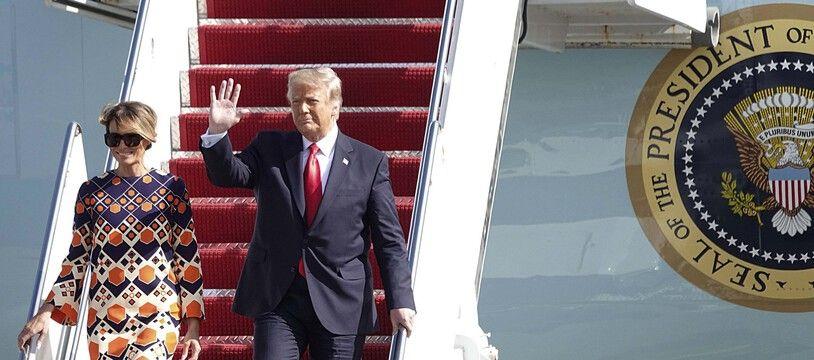 Donald Trump et son épouse Melania à leur arrivée en Floride.