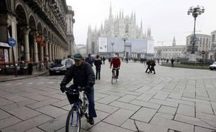 Milan lors d'une journée sans voiture.