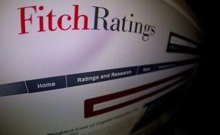 La page du site de l'agence de notation Fitch Ratings, le 17 février 2012. (Illustration)
