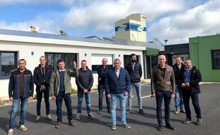 Des agricultureurs membres de la coopéraive d'Herbauges favorables au projet de super méthaniseur.