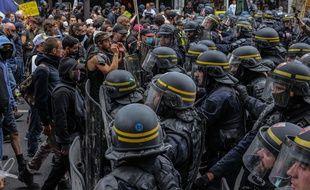 Manifestation contre le pass sanitaire a Paris, le 31 juillet 2021 (Illustration)